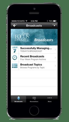 iPhone with Radio App