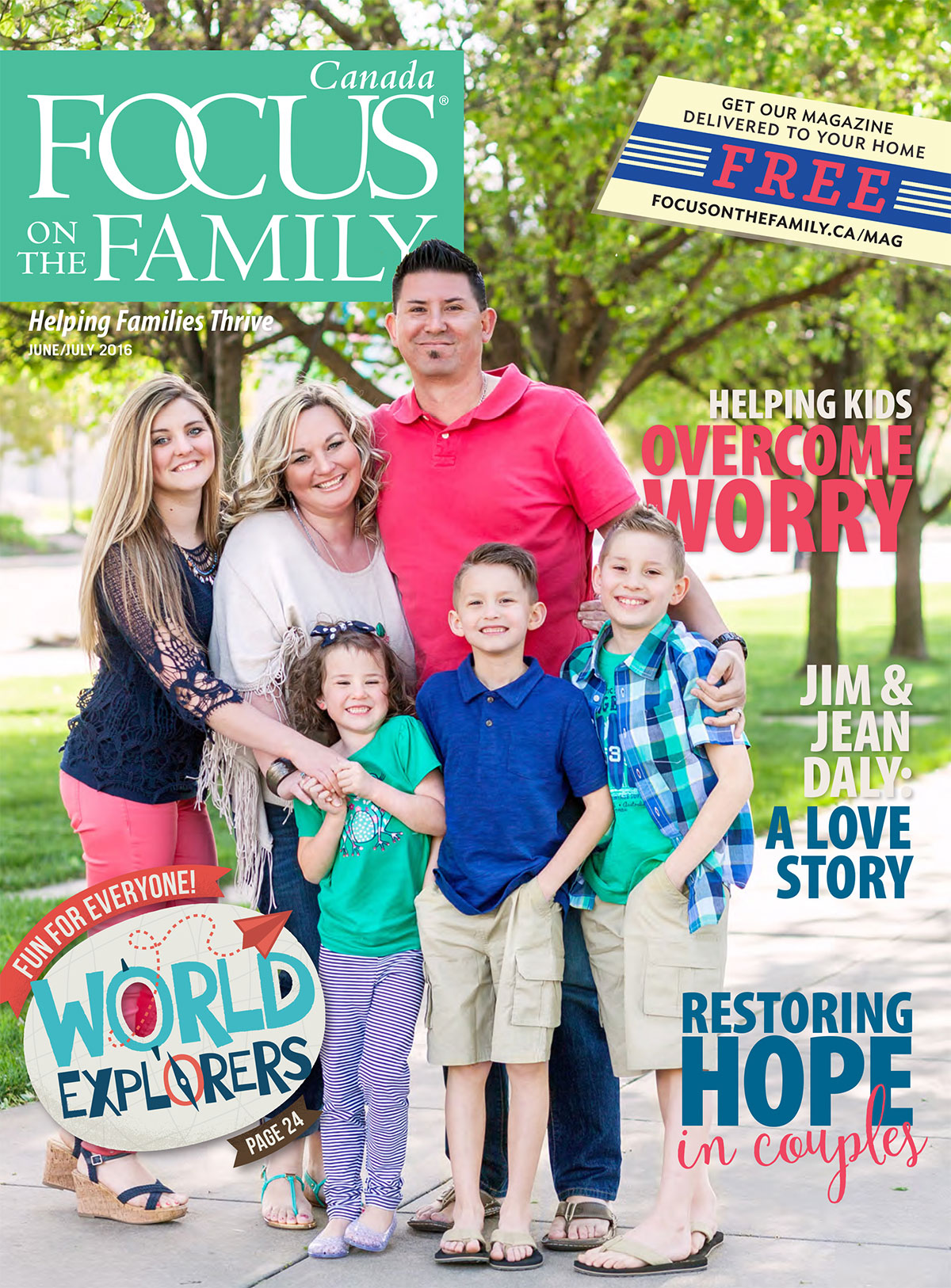 Cover of Focus on the Family Canada magazine